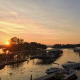 Μαρίνα ηλιοβασιλέματος Στοκ εικόνες με δικαίωμα ελεύθερης χρήσης