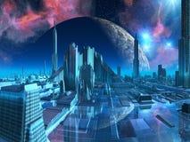 μαρίνα πόλεων Υδροχόου διανυσματική απεικόνιση