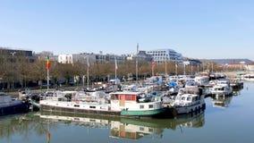 Μαρίνα σε Nacy, Γαλλία απόθεμα βίντεο