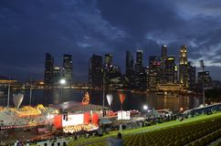 μαρίνα Σινγκαπούρη κόλπων Στοκ Φωτογραφία