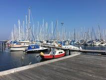 Μαρίνα στο λιμένα της θάλασσας της Βαλτικής Heiligenhafen, Γερμανία Στοκ Φωτογραφίες