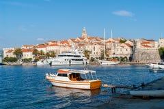 Μαρίνα της πόλης Korcula - Κροατία στοκ φωτογραφίες με δικαίωμα ελεύθερης χρήσης