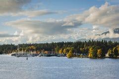 Μαρίνα του Βανκούβερ seawall στο πάρκο του Stanley Στοκ φωτογραφία με δικαίωμα ελεύθερης χρήσης
