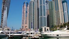Μαρίνα του Ντουμπάι, Ηνωμένα Αραβικά Εμιράτα απόθεμα βίντεο