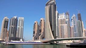 Μαρίνα του Ντουμπάι. Ηνωμένα Αραβικά Εμιράτα απόθεμα βίντεο