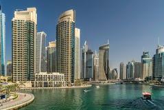 Μαρίνα του Ντουμπάι στα Ε.Α.Ε. Στοκ φωτογραφία με δικαίωμα ελεύθερης χρήσης