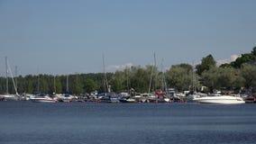 Μαρίνα, το λιμάνι σε Lappeenranta Φινλανδία 4K απόθεμα βίντεο
