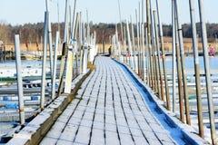 Μαρίνα το χειμώνα Στοκ Εικόνες
