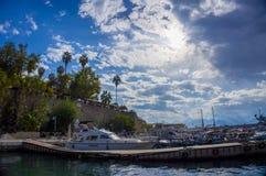 Μαρίνα Antalya, Antalya yatch Στοκ φωτογραφίες με δικαίωμα ελεύθερης χρήσης