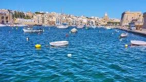 Μαρίνα Kalkara από το ανάχωμα Birgu, Μάλτα φιλμ μικρού μήκους