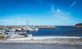 Μαρίνα riviere-Madeleine Gaspesie Κεμπέκ Καναδάς Στοκ εικόνες με δικαίωμα ελεύθερης χρήσης
