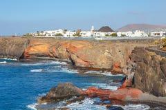 Μαρίνα Rubicon στο BLANCA Playa, Lanzarote Στοκ Εικόνες