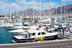 Μαρίνα Rubicon, BLANCA Playa, Lanzarote Στοκ εικόνα με δικαίωμα ελεύθερης χρήσης
