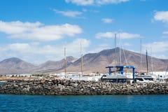 Μαρίνα Rubicon, BLANCA Playa, Lanzarote Στοκ Φωτογραφίες