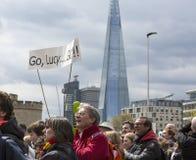 Μαραθώνιος του Λονδίνου χρημάτων της Virgin 24 Απριλίου 2016 στοκ φωτογραφία
