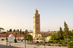Μαρακές, Μαρόκου - 3 Αυγούστου, 2016: Μουσουλμανικό τέμενος Koutoubia Στοκ Εικόνα