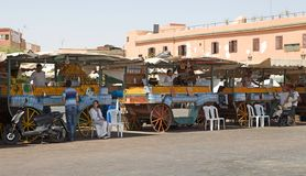 Μαρακές Jamaa EL Fna Στοκ Φωτογραφίες