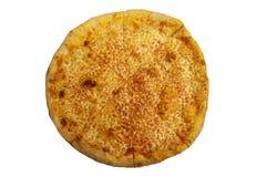 Μαργαρίτα μαγειρεύοντας συστατικά ιταλικά τροφίμων Κλασική πίτσα της Μαργαρίτα τηγανισμένο κοτόπουλο πό&de Στοκ Εικόνα