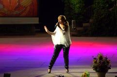Μαργαρίτα Hranova στη σκηνή Στοκ Φωτογραφία