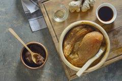 Μαριναρισμένα Miso στήθη κοτόπουλου Στοκ Εικόνες