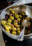 Μαριναρισμένο πρόχειρο φαγητό ελιών Στοκ Εικόνες