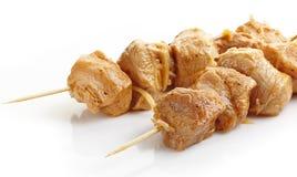 Μαριναρισμένο χοιρινό κρέας kebab Στοκ Εικόνες