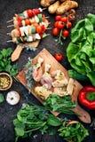 Μαριναρισμένο BBQ κρέας Στοκ Εικόνες