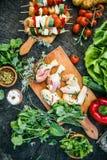 Μαριναρισμένο BBQ κρέας Στοκ Εικόνα