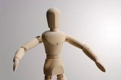 μαριονέτα που στέκεται ξύ&lamb στοκ φωτογραφία με δικαίωμα ελεύθερης χρήσης