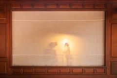 Μαριονέτα σκιών στο θέατρο Στοκ φωτογραφία με δικαίωμα ελεύθερης χρήσης