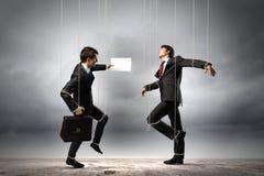 Μαριονέτα businesspeople στοκ φωτογραφίες