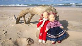 μαριονέτες Παραλία άμμου Στοκ Εικόνες