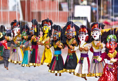 Μαριονέτες Nepali Στοκ φωτογραφία με δικαίωμα ελεύθερης χρήσης