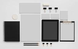 Μαρκάροντας πρότυπο προτύπων με την ταμπλέτα στο λευκό Στοκ Εικόνες
