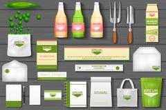 Μαρκάροντας πρότυπο ταυτότητας για την κηπουρική eco απεικόνιση αποθεμάτων