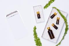 Μαρκάροντας πρότυπο Φυσικό ουσιαστικό πετρέλαιο Φυσικό προϊόν ομορφιάς Στοκ Φωτογραφία