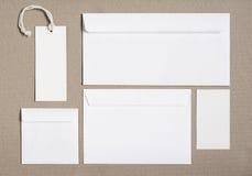 Μαρκάροντας πρότυπο χαρτικών για τα σχέδια ταυτότητας Στοκ φωτογραφία με δικαίωμα ελεύθερης χρήσης