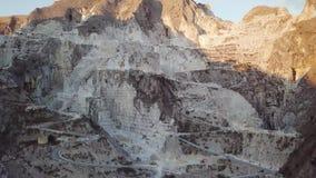 Μαρμάρινα βουνά του Καρράρα απόθεμα βίντεο