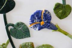 Μαρμάρινες διακοσμήσεις λουλουδιών Στοκ Φωτογραφίες
