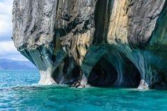 Μαρμάρινες σπηλιές της λίμνης στρατηγός Carrera (Χιλή) στοκ εικόνα με δικαίωμα ελεύθερης χρήσης