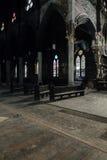 Μαρμάρινες στήλες & λεκιασμένα παράθυρα γυαλιού - εγκαταλειμμένη εκκλησία - Νέα Υόρκη Στοκ εικόνες με δικαίωμα ελεύθερης χρήσης
