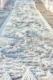 Μαρμάρινη αυτοκρατορική απαγορευμένη παλάτι πόλη Πεκίνο Κίνα οδοστρωμάτων Στοκ Φωτογραφίες