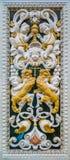 Μαρμάρινη λεπτομέρεια ανακούφισης bas στην εκκλησία του Gesà ¹ στο Παλέρμο Ιταλία Σικελία στοκ εικόνα