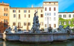 Μαρμάρινη πηγή στο navona πλατειών, Ρώμη, Ιταλία Στοκ Εικόνες