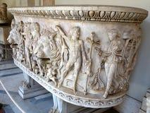 Μαρμάρινη Σαρκοφάγος, μουσείο Βατικάνου στοκ φωτογραφία