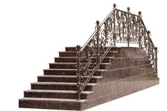 Μαρμάρινη σκάλα με ένα κιγκλίδωμα μετάλλων Στοκ Εικόνες
