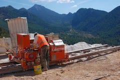Μαρμάρινος εργαζόμενος λατομείων στοκ φωτογραφία με δικαίωμα ελεύθερης χρήσης