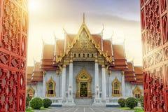 Μαρμάρινος ναός της Μπανγκόκ, Ταϊλάνδη Ο διάσημος μαρμάρινος ναός Ben στοκ φωτογραφίες