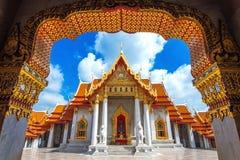 μαρμάρινος ναός της Μπανγκό&k Στοκ φωτογραφίες με δικαίωμα ελεύθερης χρήσης