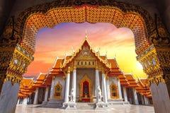μαρμάρινος ναός της Μπανγκό&k Στοκ Εικόνες